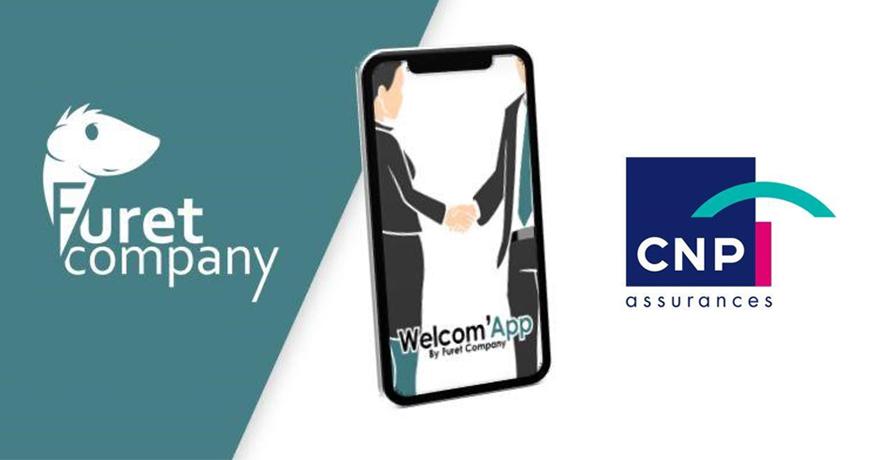 Actualité RH Furet Company - CNP assurances rejoint welcomapp