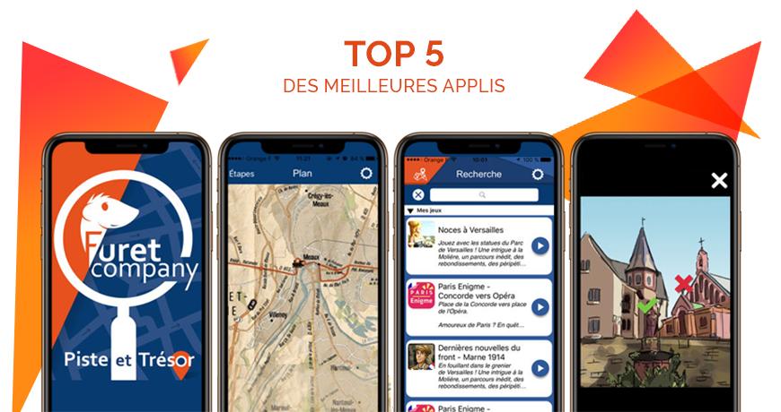 Actualité Furet Company - Piste et Trésor Top5 meilleures applis