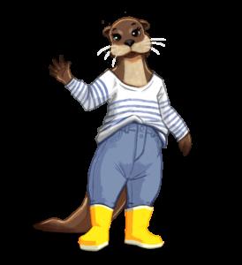 Furet Company | ile de noirmoutier aventures personnage accompagnateur Louise loutre